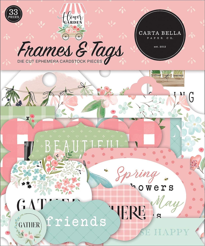 Carta Bella Paper Company Flower Garden Frames & Tags Ephemera