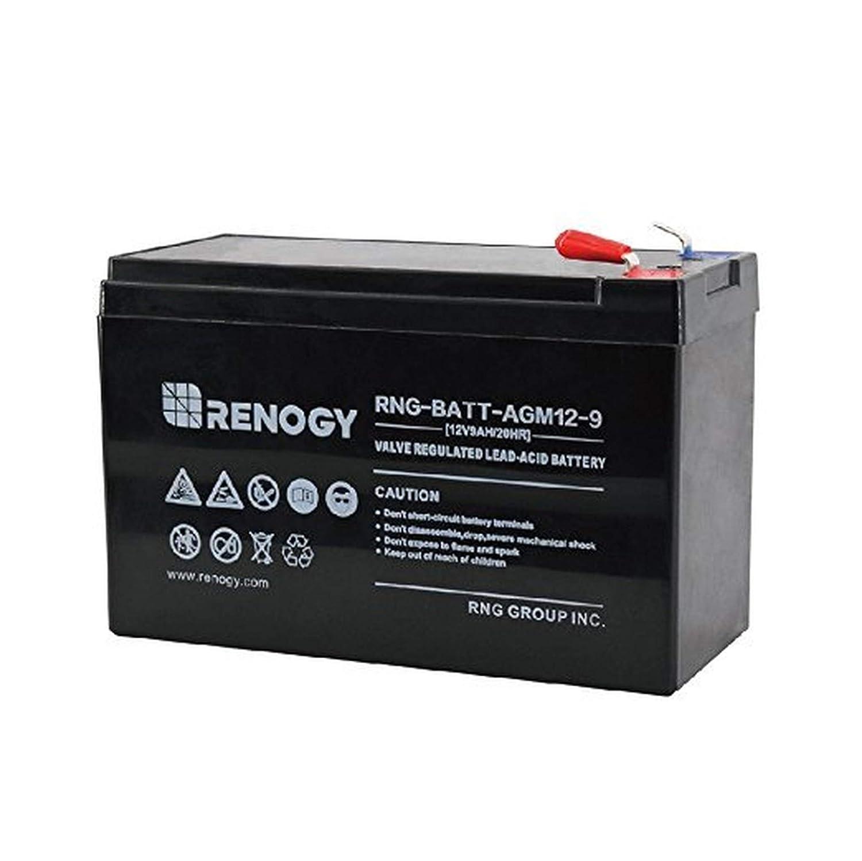Amazon.com: RENOGY 12 V 9 Ah batería sellada de plomo ácido ...