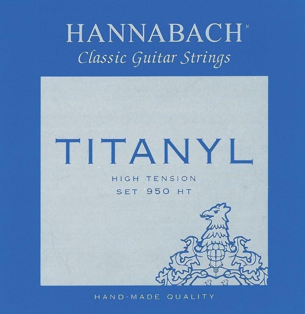 Hannabach Cuerdas para guitarra clásica, Serie 950 Tensión Alta Titanyl - juego 3 cuerdas agudo (E1/Mi1+B2/Si2+G3/Sol3)