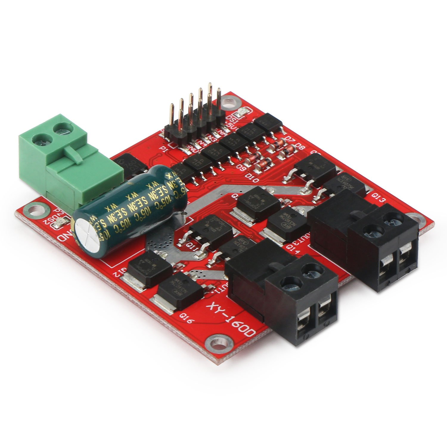 DC Motor Driver, DROK L298 Dual H Bridge Motor Speed Controller DC 6.5V-27V 7A PWM Motor Regulator Board 12V 24V Electric Motor Control Module Industrial 160W with Optocoupler Isolation by DROK (Image #3)
