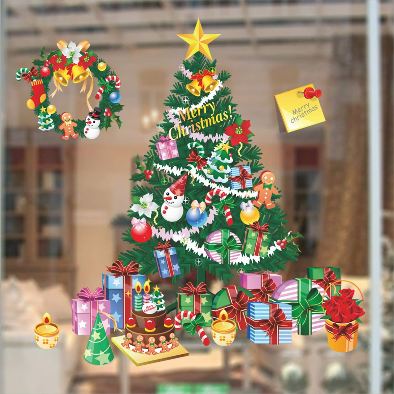 Christmas Shop Window Wall Vehicle Display Christmas Decal Vinyl Sticker Xmas 8