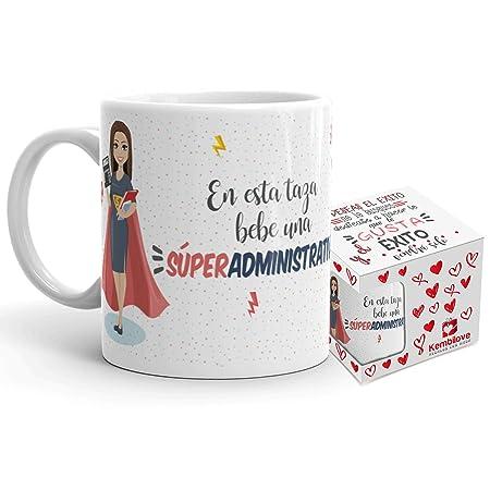 Kembilove Taza de Café de Administrativa – En esta taza bebe una Súper Administrativa – Taza de Desayuno para la Oficina – Taza de Café y Té para ...
