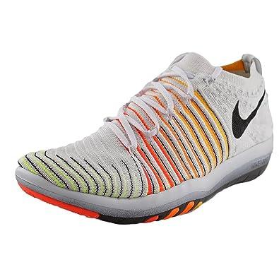 reputable site af678 9cf6f Nike WM Free Transform Flyknit, Chaussures de Gymnastique Femme, Blanc  (White/Black