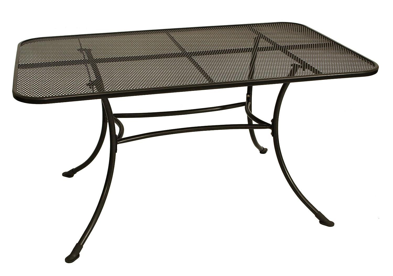streckmetall tisch rivo 90x160cm mit stabilem rundrohrgestell eisengrau kaufen. Black Bedroom Furniture Sets. Home Design Ideas