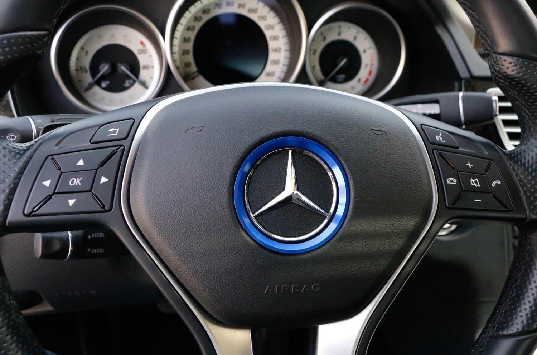 Red, 2.3 Inner Ring Size etc Duoles Sports Aluminum Steering Wheel Center Decoration Cover Trim for Mercedes B C E CLA GLA GLC GLK Class