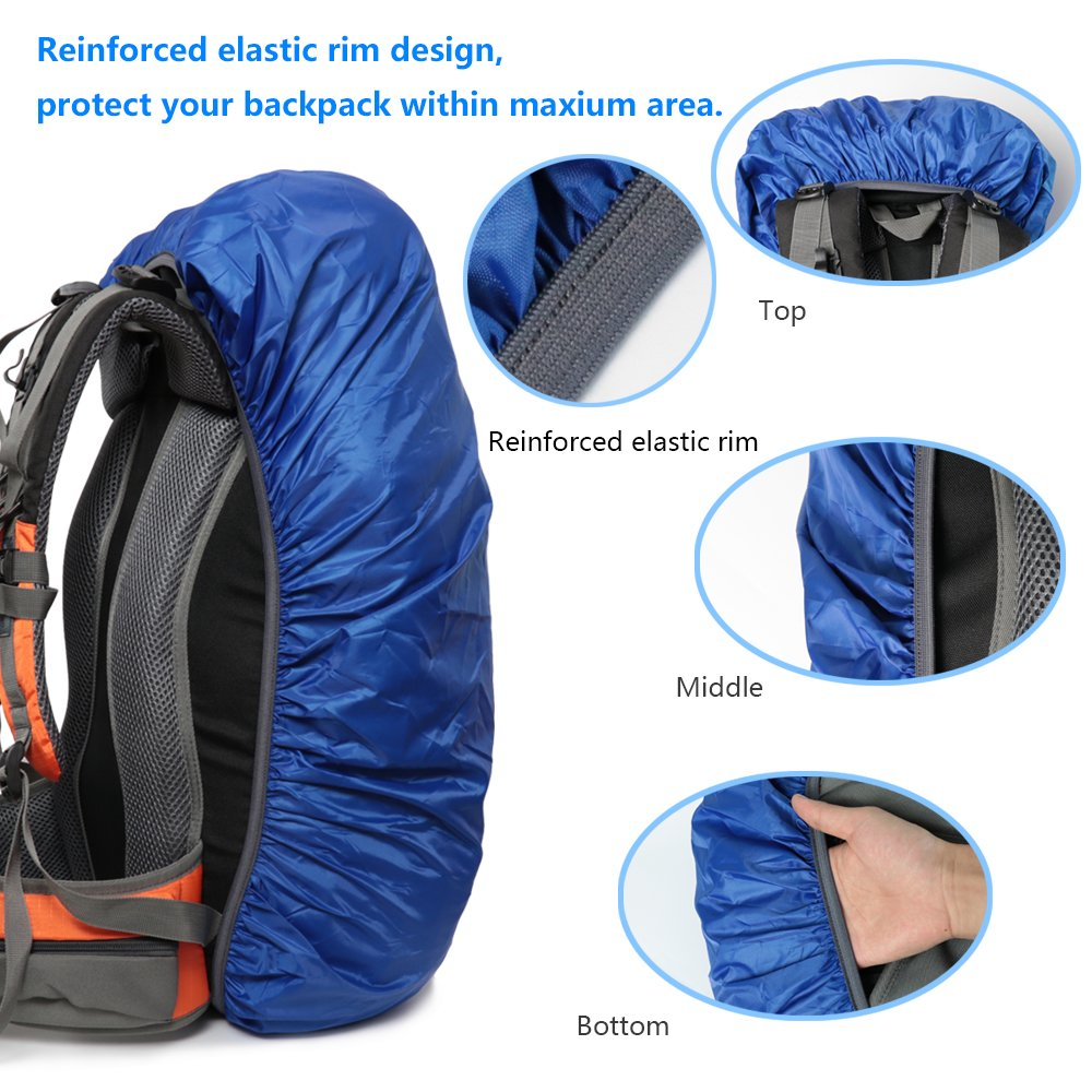 3 Color Available,15-90L for Camping,Hiking,Cycling,Waterproof case for iPhone 6S 6 MECOC Ultralight Backpack Rain Cover /& Cooling Towel or Cellphone Waterproof Case S7 Edge,S7,Up to 6 inches