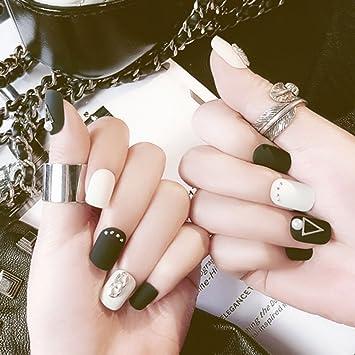 24 uñas postizas mate esmeriladas falsas hermosas uñas postizas MS ...