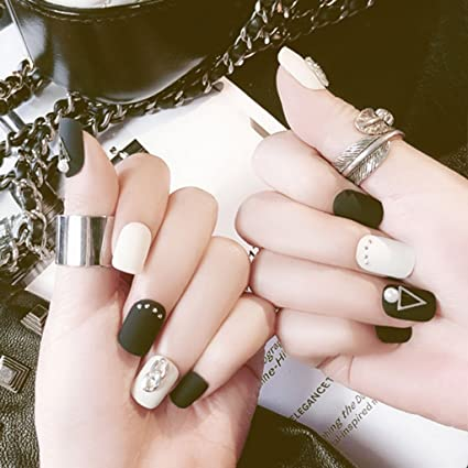 24 uñas postizas mate esmeriladas falsas hermosas uñas ...