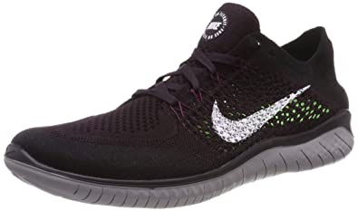 a26af6a1fb4 Image Unavailable. Image not available for. Color  Nike Free RN Flyknit  2018 Men s Running Shoe Burgundy ASH White-Black-Atmosphere