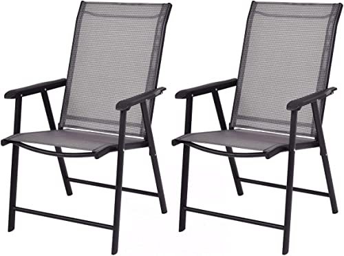 Giantex 2-Pack Patio Folding Chairs Portable