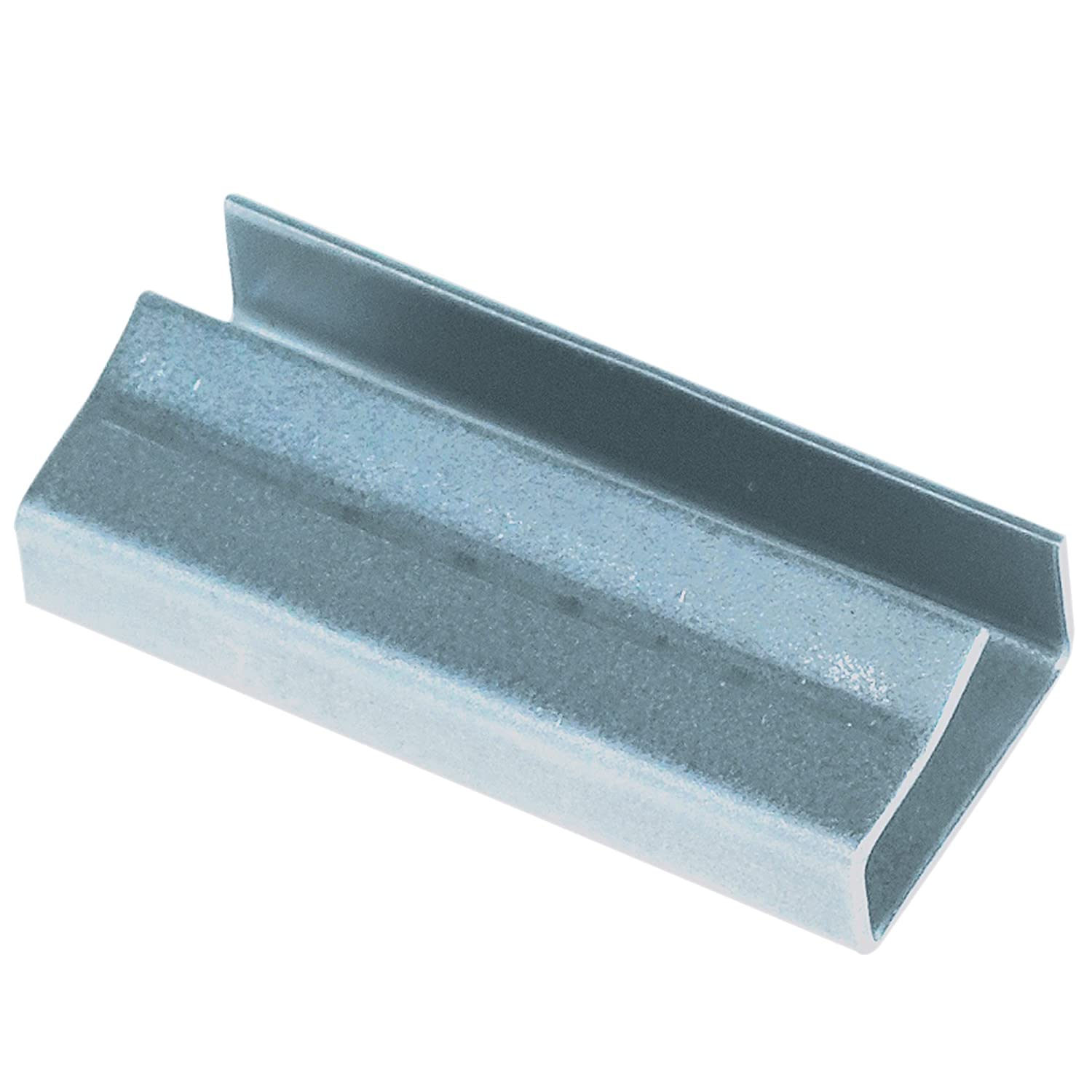 Pack of 2500 BOX USA BPS12SEAL Metal Poly Strapping Seals Silver 1//2 Open//Snap on