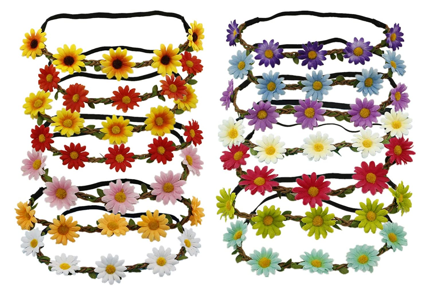 14 PCS Sunflower Headband...