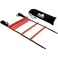 REEHUT Agility Ladder w/Free User E-Book + Carry Bag - Speed Training Equipment for High Intensity Footwork (8 Rungs 12 Rungs 20 Rungs)
