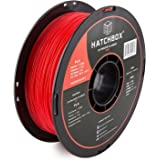 HATCHBOX PLA 3D Printer Filament Dimensional Accuracy +/- 0.03 mm 1 kg Spool 1.75 mm Red