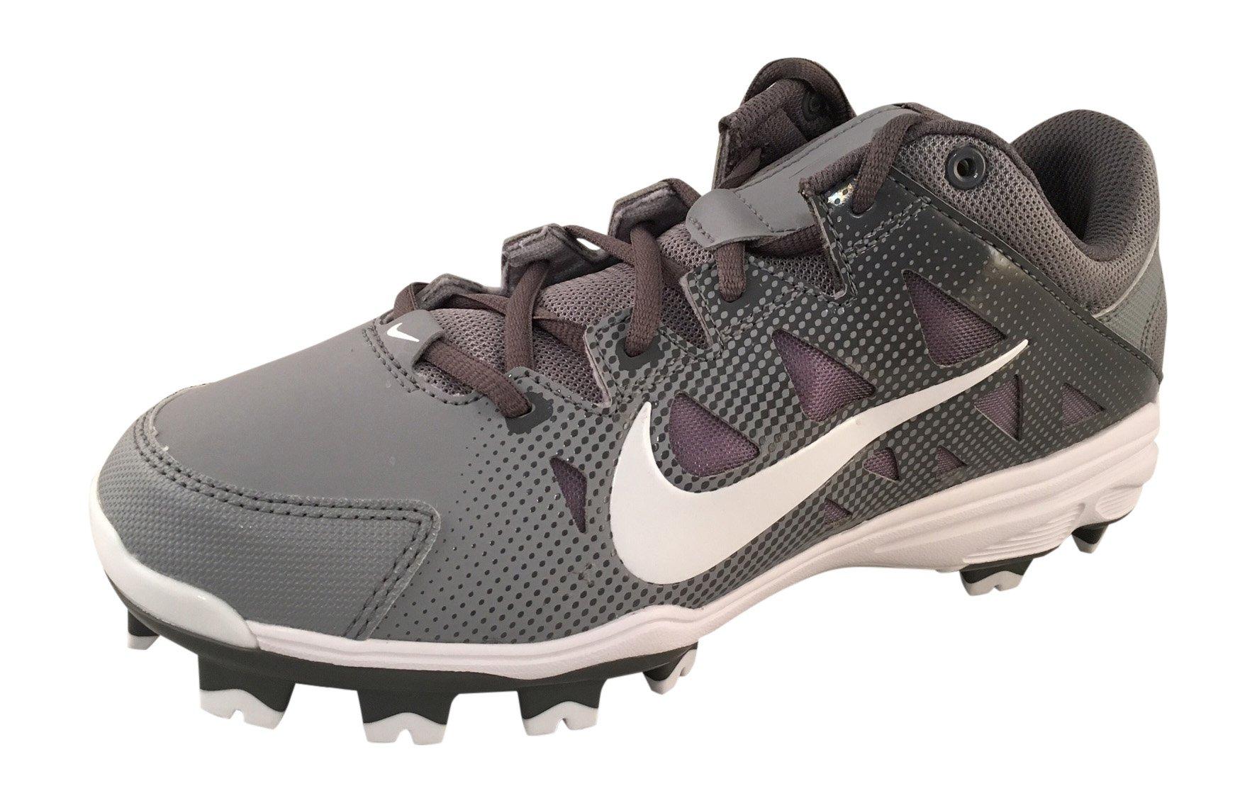 Nike Womens Hyperdiamond Strike Molded Softball Cleats, Gray/White, SZ 8