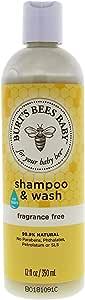 Burt's Bees Baby Shampoo & Wash, Fragrance, 12 Fl Oz