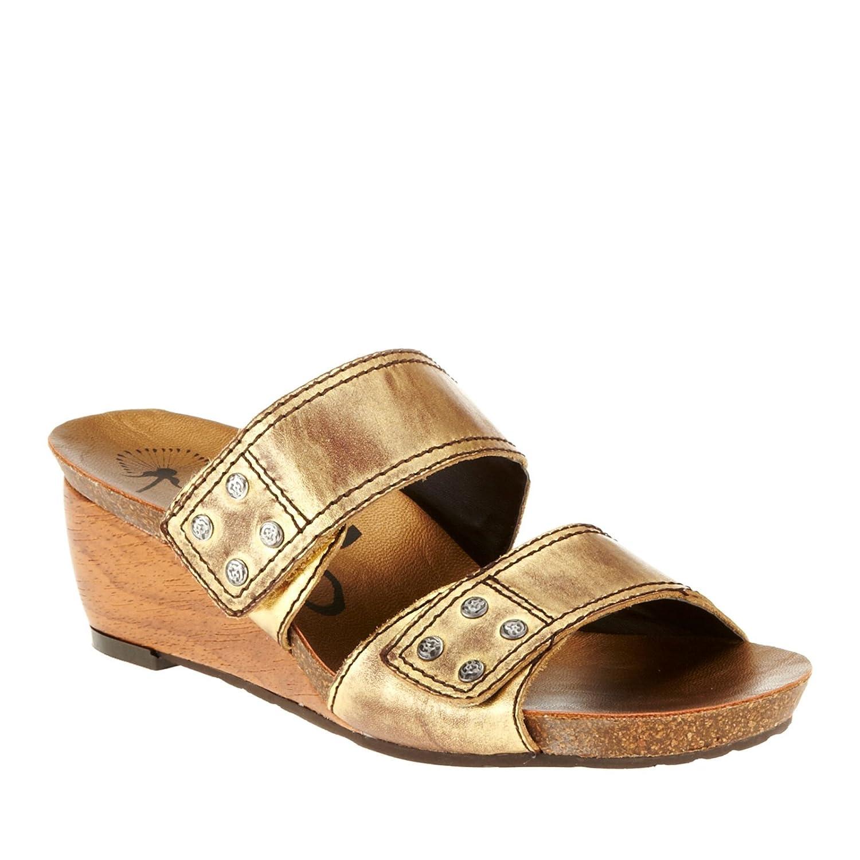 OTBT Women's Sullivan Slide Sandals B009UWXYWA 7.5 B(M) US|Gold Yellow