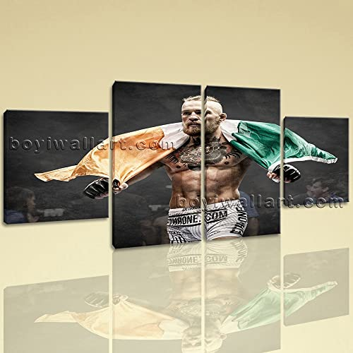 Large Conor Mcgregor Mma Boxing Wall Art Decor Dining Room Four Pieces Print