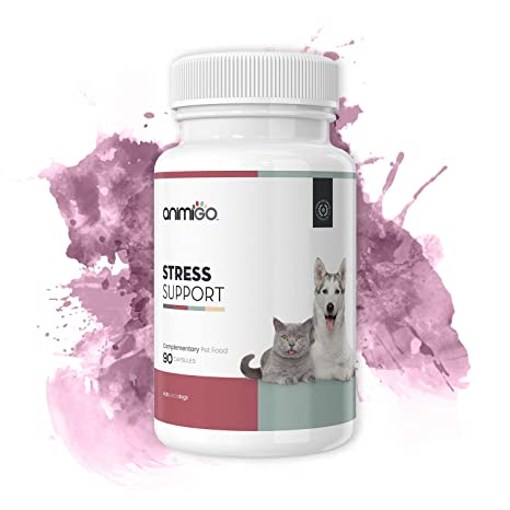 Animigo Apoyo Frente al Estrés. 90 Cápsulas Calmantes para Gatos y Perros