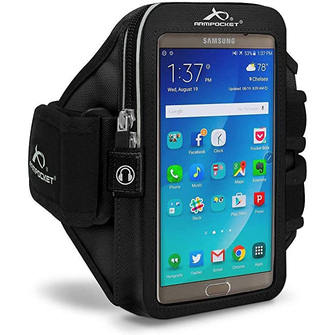 Amazon.com: Armpocket Mega i-40 Plus Sweat/Weather Proof Phone Armband - Fits iPhone X/8/7/6s/6 Plus, Galaxy S9+/S8+, Note 8/5, Google Pixel 2XL/XL w case, ...