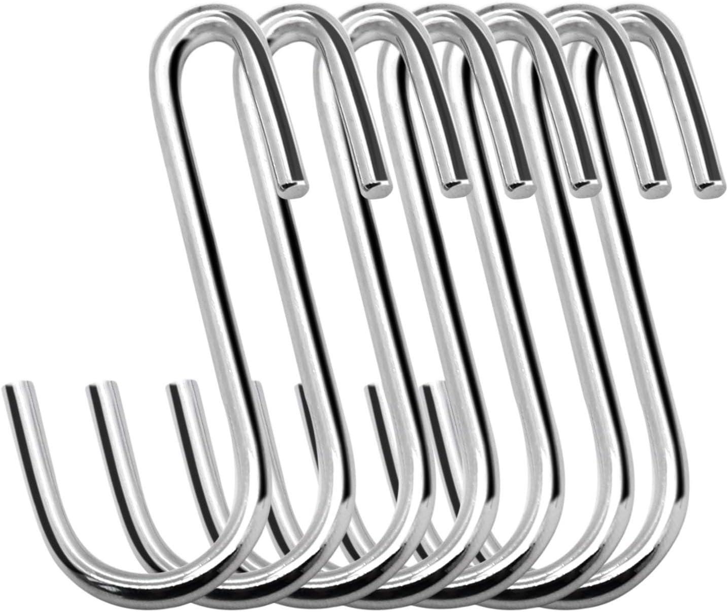 utensilios de cocina ganchos para colgar ollas plantas Pack de 10 ganchos en forma de S resistentes para ollas y ollas toallas bolsas