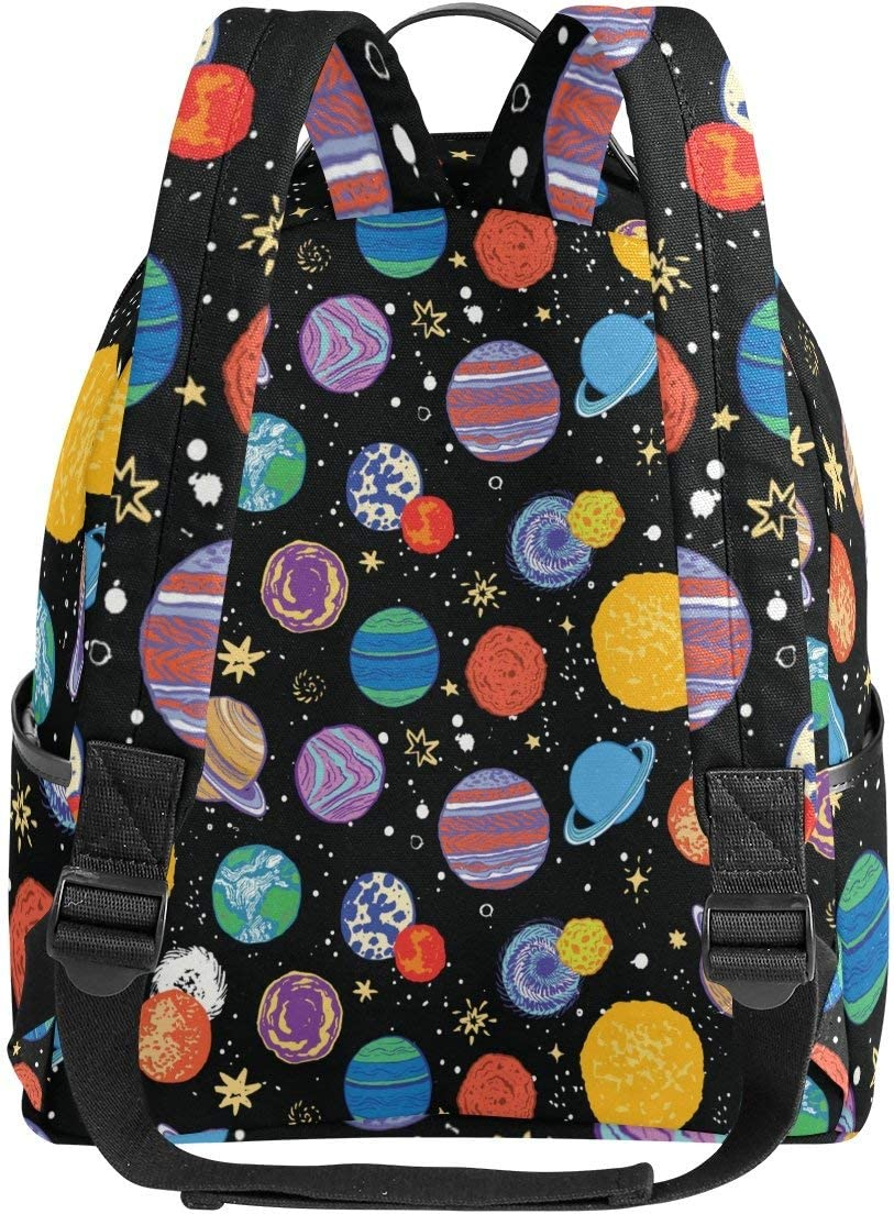 Cartoon Planet Students Backpack for Boys Girs Kids