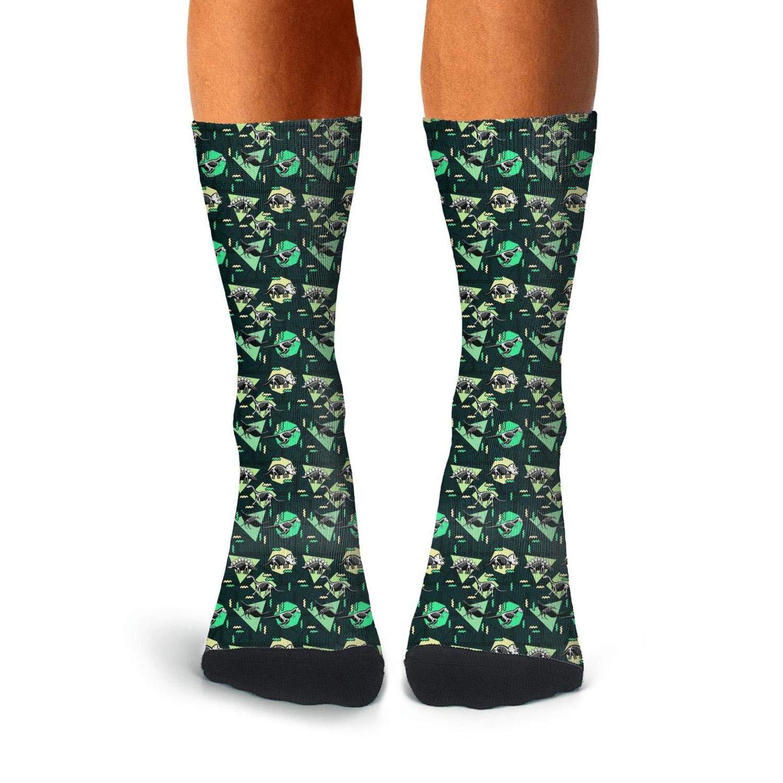 Mens All-season Sports Novelty Socks Large Dinosaurs Fossil Athletic Socks For Men