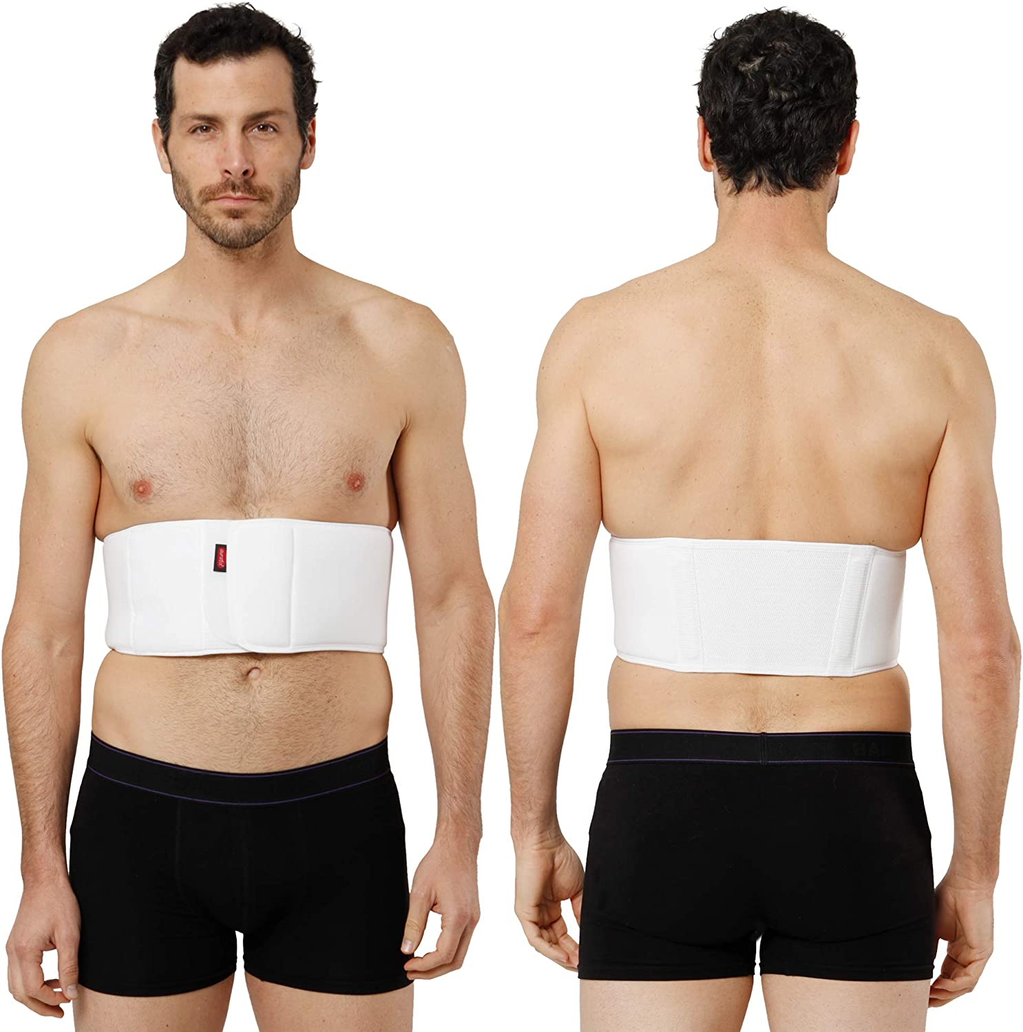 XXL Fractured Broken Rib Brace for Men and Women Dislocated Ribs Post-Surgery Aid Elastic Chest Wrap Compression Support Belt for Cracked