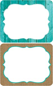 Teacher Created Resources Shabby Chic Nametags/Labels (77195), 2.88 x 3.5 Inches