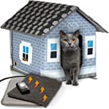 PETYELLA Heated cat Houses for Outdoor Cats in Winter - Heated Outdoor cat House Weatherproof - Outdoor Heated cat House - Ea