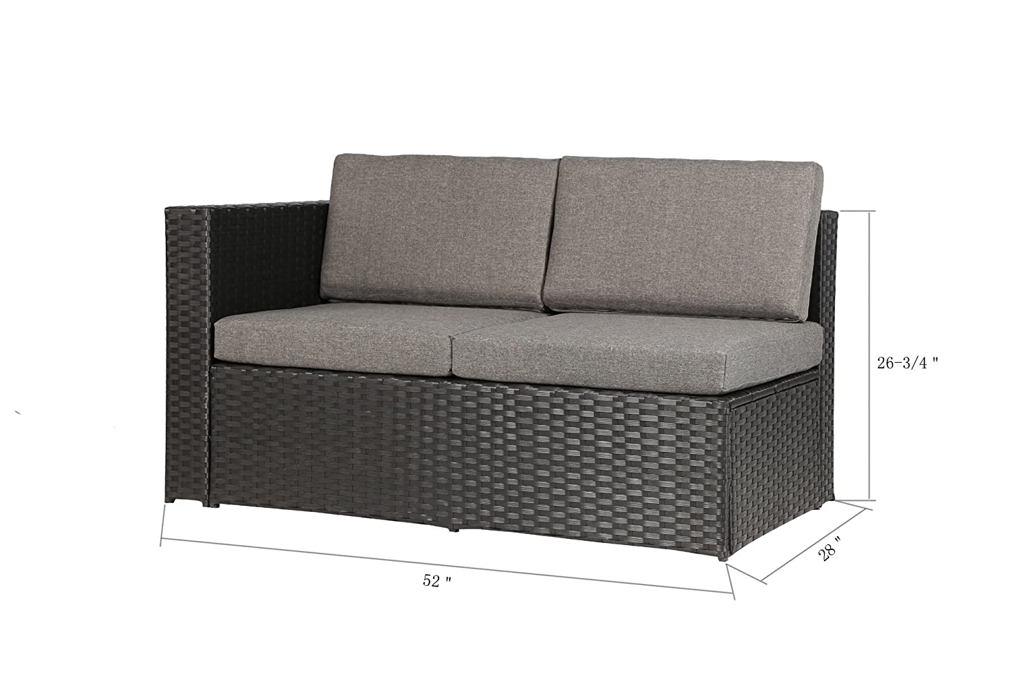 furniture corner pieces. Amazon.com : Magari Furniture MAG35 Complete Patio Garden 4 Piece Deep Seating Group Set With Cushion, Black \u0026 Outdoor Corner Pieces E