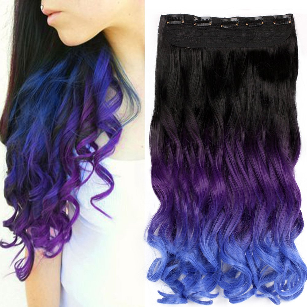 Amazon 23 Inch Curly Clip In Hair Extensions Two Tones Ombre