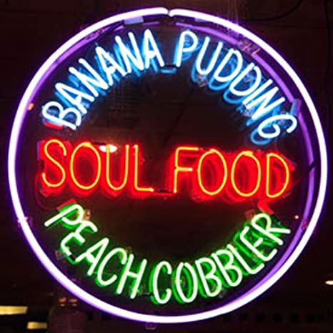 Cozyle Glass Bright Neon Light Soul Food Banana Puding Peach Cobbler