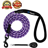 Tifereth Dog Leashes for Medium and Large Dogs Mountain Climbing Rope Dog Leash 6 ft Long Supports The Strongest Pulling Large and Medium Sized Dogs(Free Dog Training Clicker)