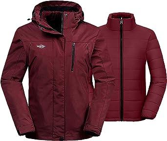Details about  /Wantdo Women/'s Waterproof Ski Jacket Warm Winter Coats Windproof Fleece Rain Jac