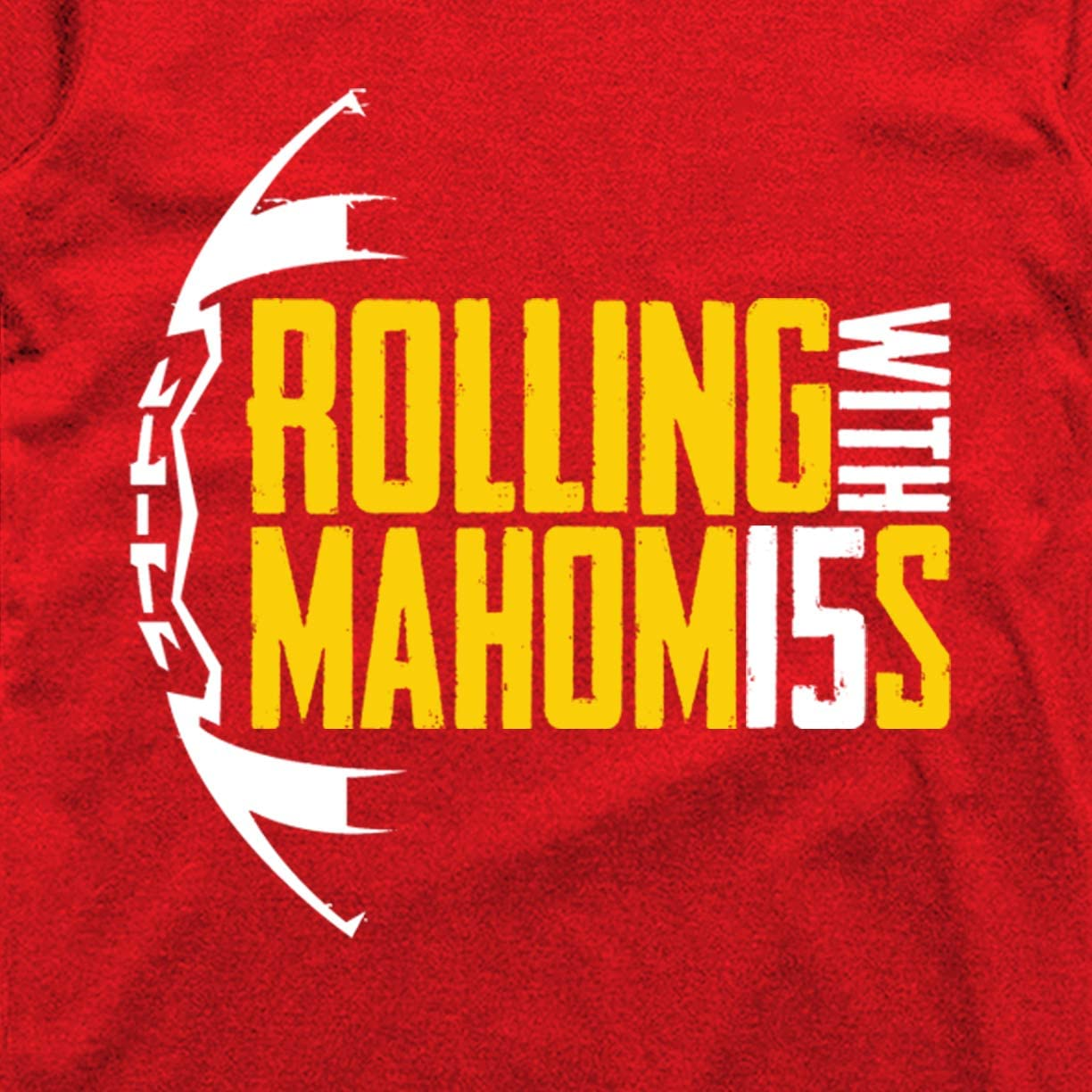 Wishful Inking Rollin with Mahomes Kansas City Football Fans Classic Hoodie