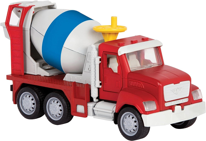 DRIVEN by Battat WH1014Z Micro Cemento Mezclador y Manivela – Camiones, Vehículos de Trabajo y Juguetes de Construcción para Niños a Partir de 3 años, Nylon/A