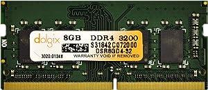 DOLGIX 8GB Single DDR4 3200(PC4-25600) X8 Unbuffered SODIMM 260-Pin Laptop Memory
