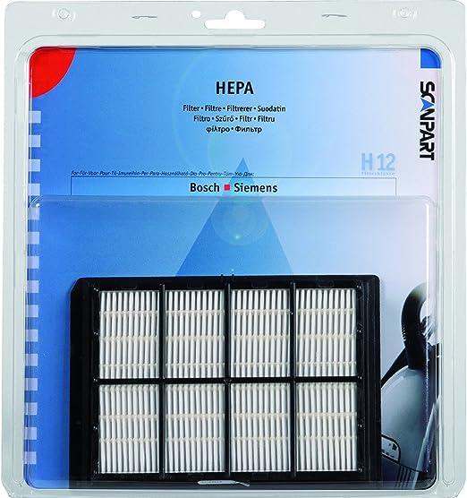 Filtro Hepa H12 para Bosch/Siemens, Modelo F297 apto para Modelos VS6, VS5, VS7, VS9, BSA, BSC, BSD, BSF - Medidas aprox. 150x105x20 cm: Amazon.es: Hogar