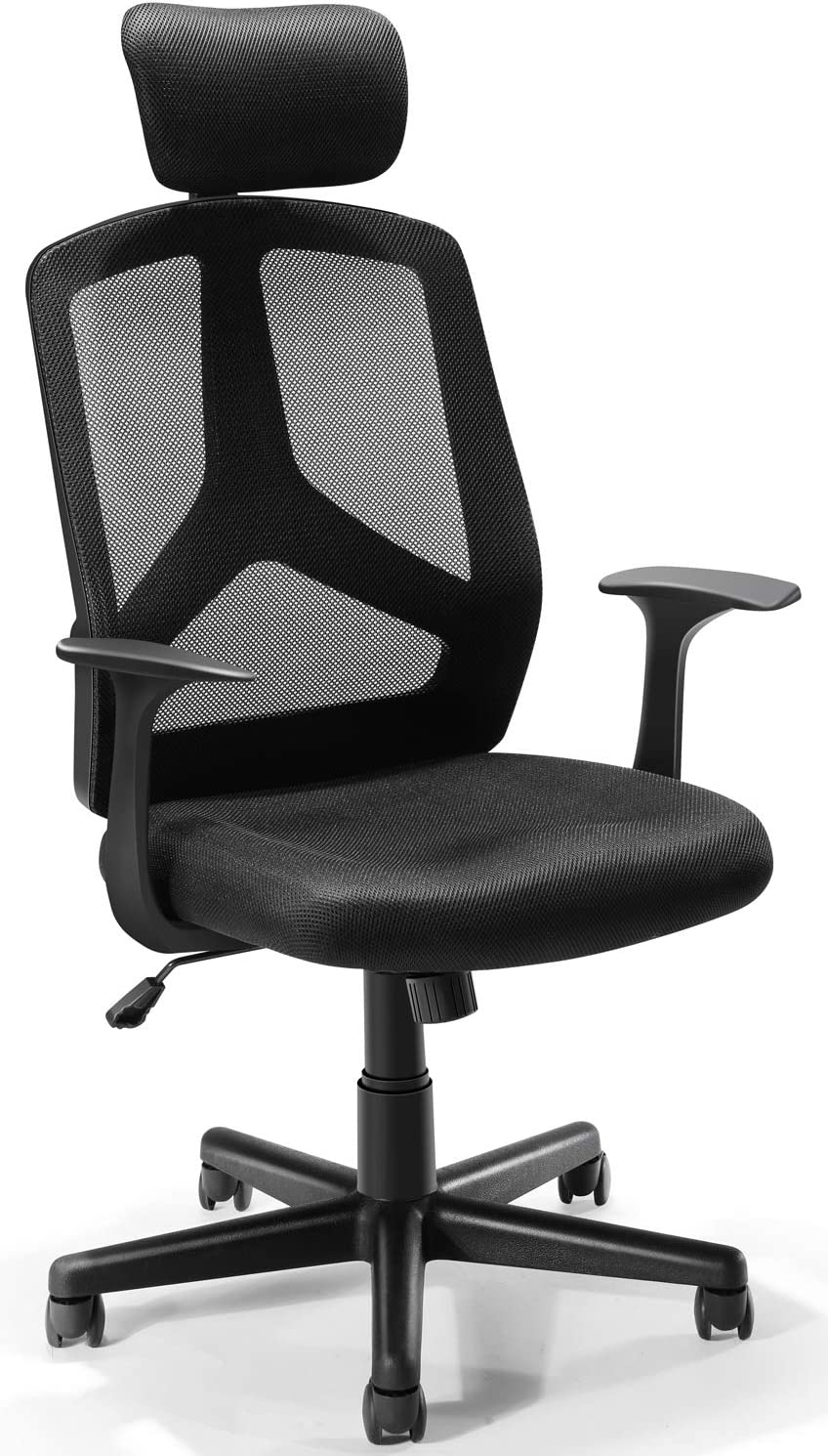 Ergonomic Mesh Chair, Tribesigns Office Chair Desk Chair with Breathable Mesh Seat, Adjustable Headrest for Home Office (Black Upgraded)
