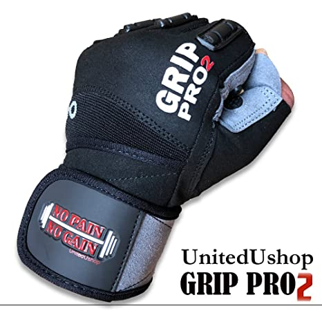 Amazon com : UniteduShop Grip PRO 2 Gym Workout Gloves with Wrist