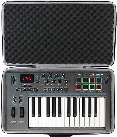 Co2CREA - Funda rígida de viaje para controlador de teclado Nektar Impact LX25+ MIDI (funda de viaje)