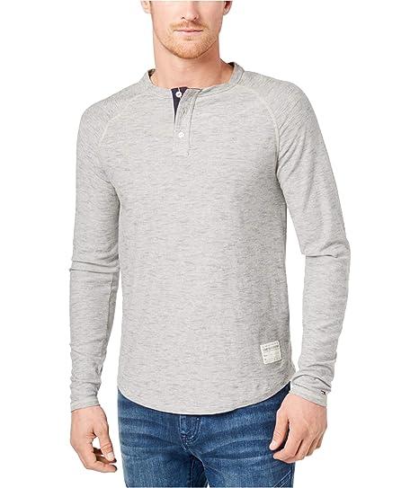 5b1b4801 Tommy Hilfiger Mens Buxton Henley Shirt Grey S at Amazon Men's Clothing  store: