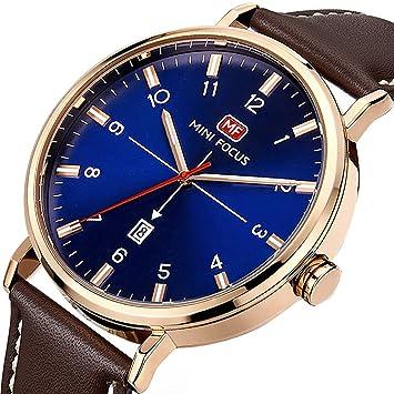 Relojes Hombre Reloj de pulsera de Longqi Analógico de Cuarzo Relojs Elegante Impermeable Calendario Negocios Relojes para hombres: Amazon.es: Hogar