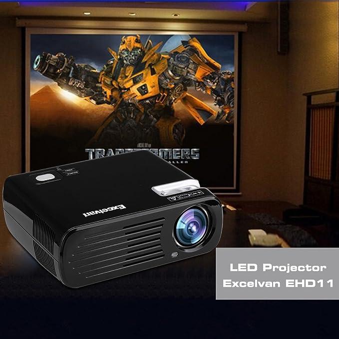 Excelvan EHD11 - Mini Proyector LED Portatil 1080P (2600 Lumenes ...