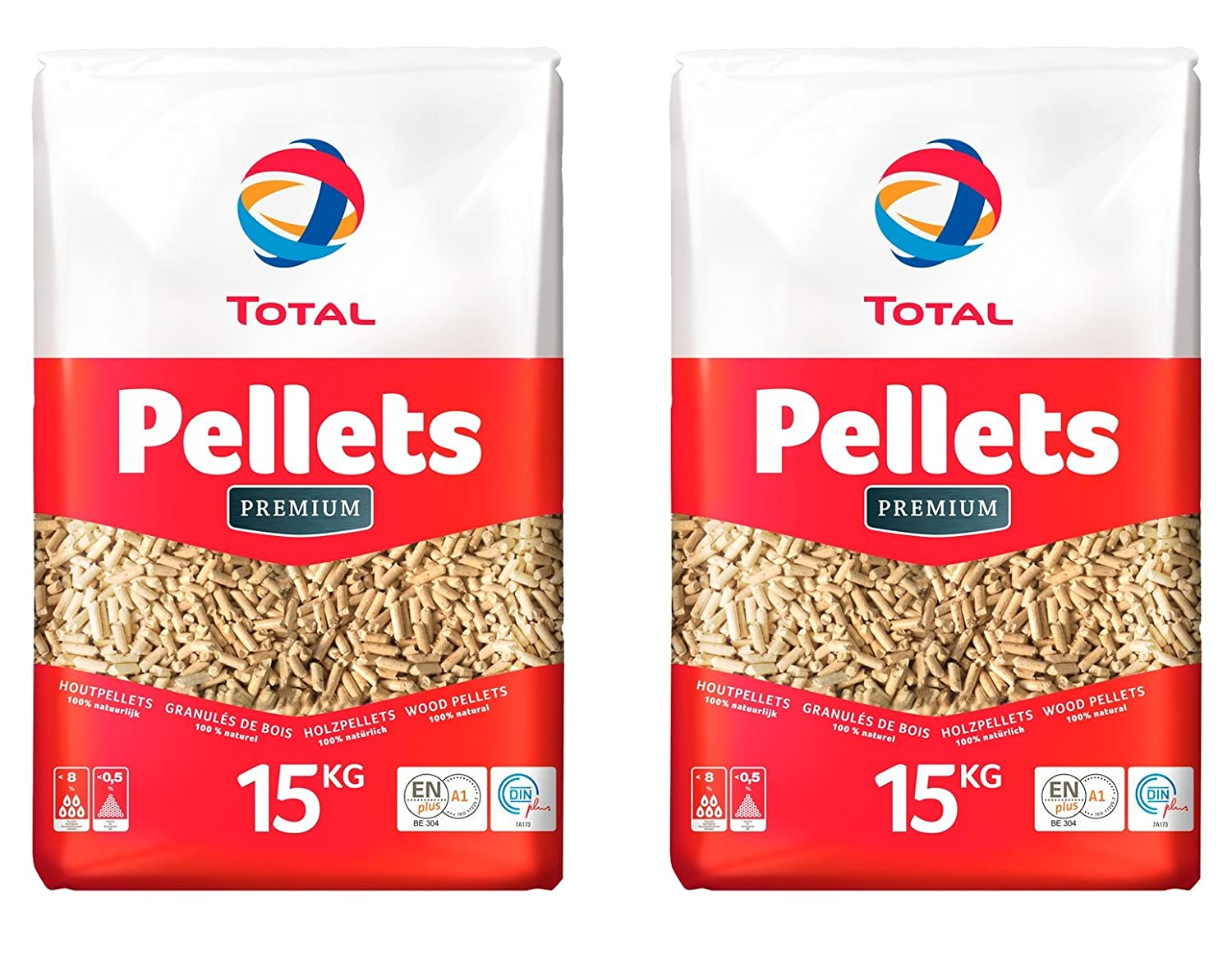 2 x Total Premium wood pellets 15 kg bag