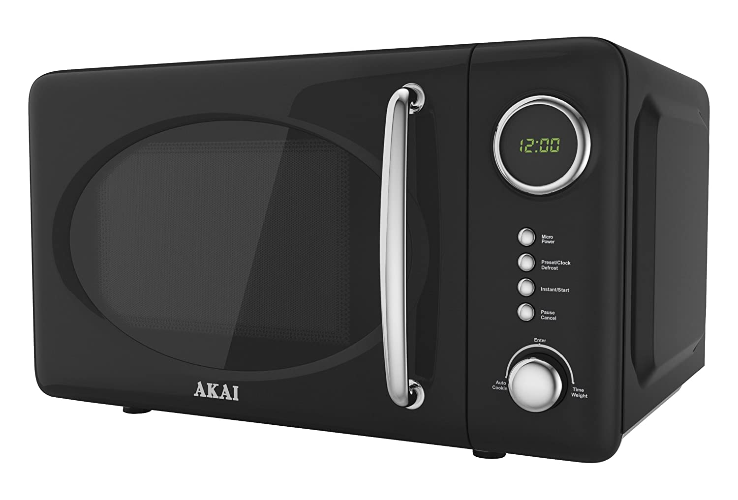 Akai A24006 Digital Solo Microwave with 5 Power Levels, 700 W, 20 Litre, Black