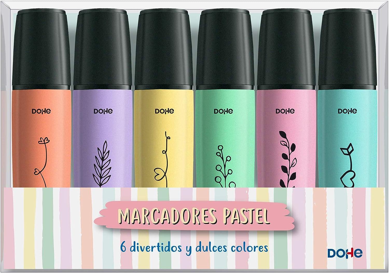 Pack de marcadores fluorescentes tonos pastel - Dohe - (6 uds ...
