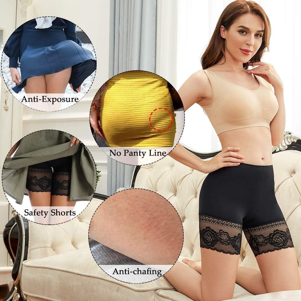 Joyshaper Under Skirt Shorts for Women Anti Chafing Lace Seamless Safety Pants Boxers Slipshort Knickers Leggings Tights Briefs Boyshorts Under Dresses Underwear