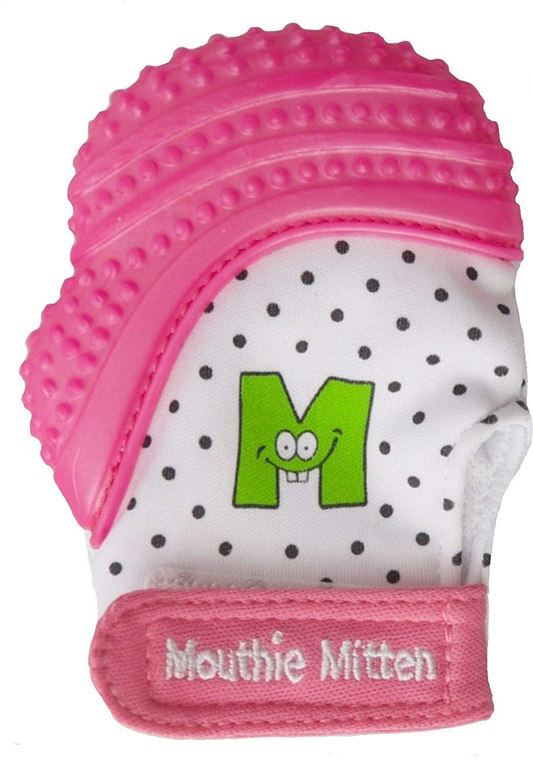 Munch Mitt Teething Mitten By Malarkey Kids. The Original Mom Invented teething Toy. (Pink Unicorn)
